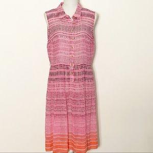 CALVIN KLEIN- Sheer Sleeveless Dress. Size 12